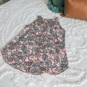 Tops - Pink Floral Tank Top